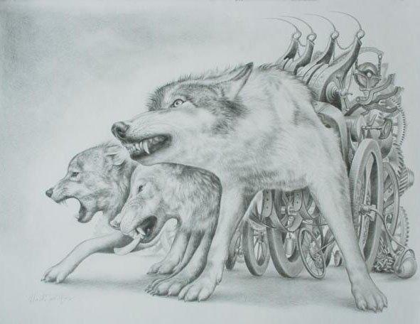 Dessin de loup 11 loup - Un loup dessin ...